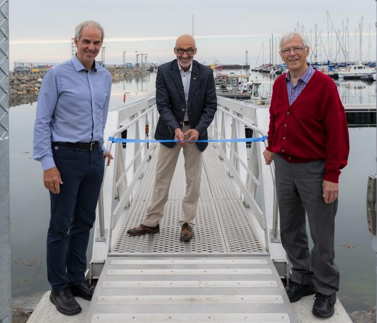 La Ville de Rimouski dévoile officiellement ses infrastructures portuaires à la marina de Rimouski